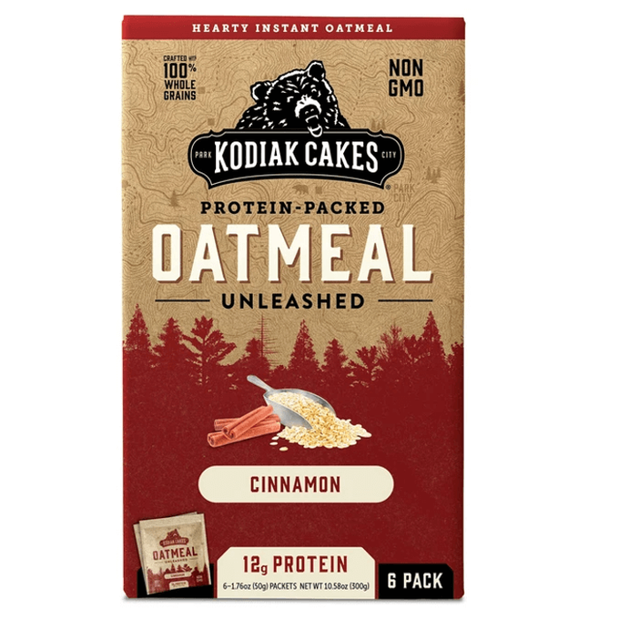 Kodiak Cakes Oatmeal Unleashed 6 Servings Cinnamon