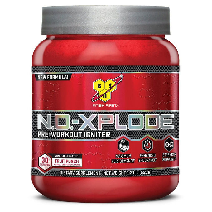 BSN NO-Xplode Non-Caffeinated 30 Servings - Fruit Punch