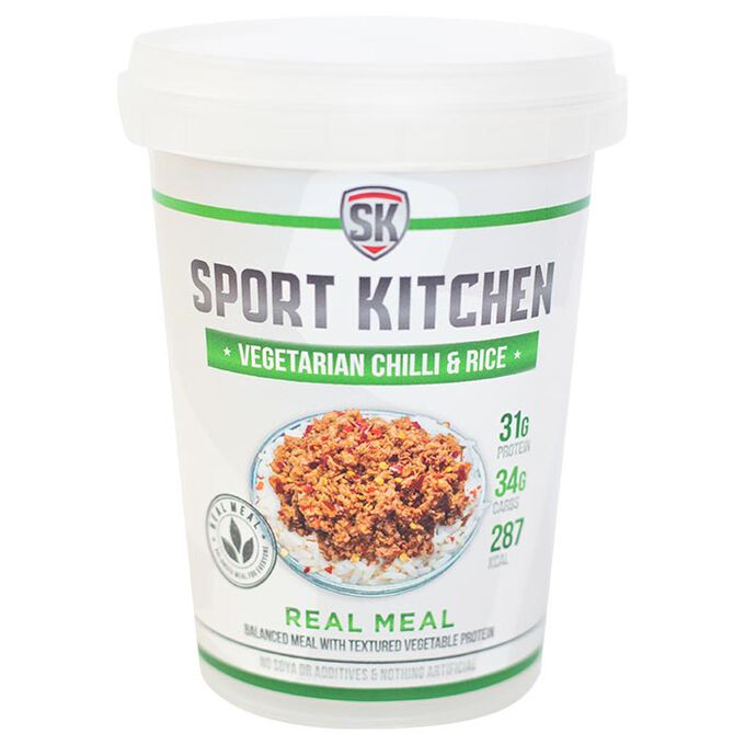 Sports Kitchen Sport Kitchen Vegetarian Chilli & Rice - Protein Meal