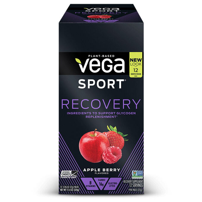 Vega Sport Recovery 12 Sachets Apple Berry