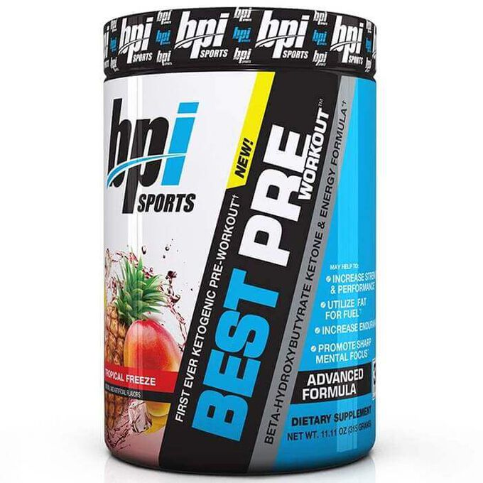BPI Sports Best Pre Workout 30 Servings Tropical Freeze