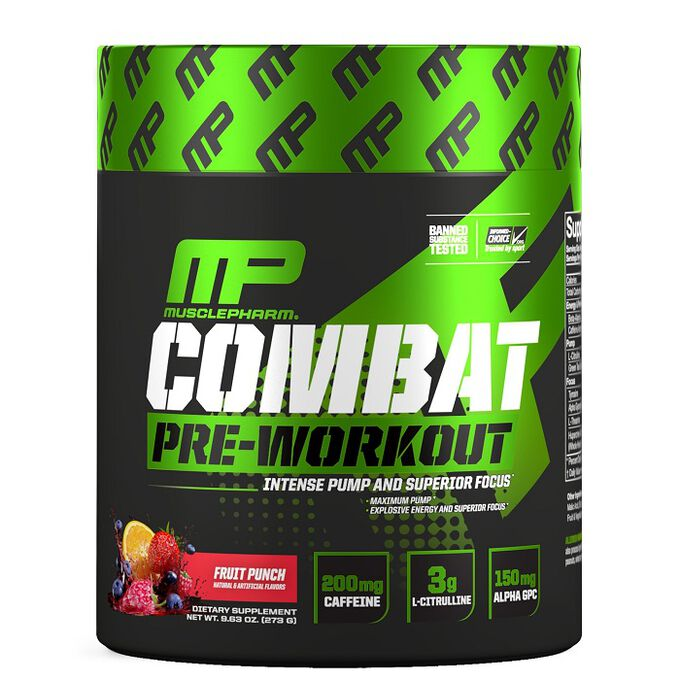 MusclePharm Combat Pre-Workout 30 Servings Blue Raspberry