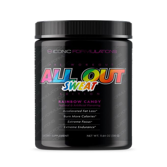 Iconic Formulations All Out Sweat Edition 40 Servings Blue Hawaiian
