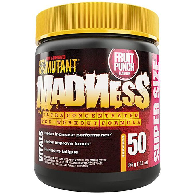 Mutant Madness 50 Servings Blue Raspberry