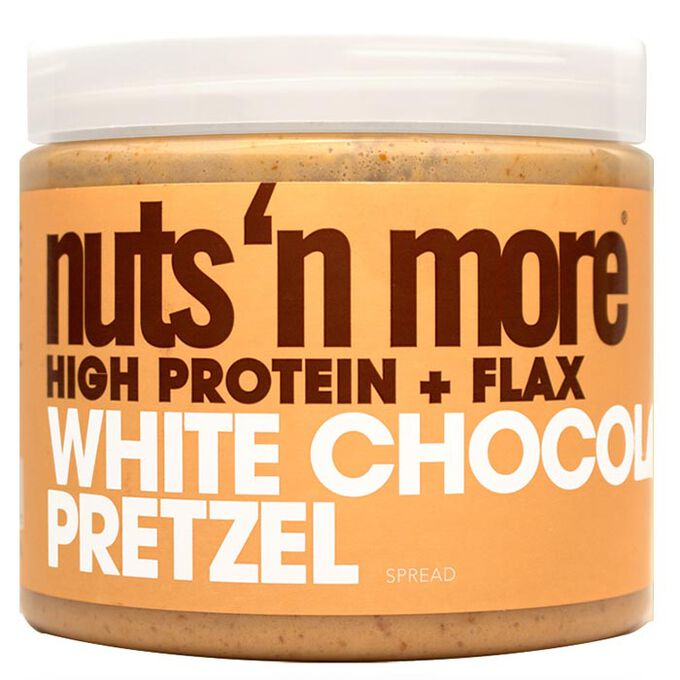 Nuts n More Peanut Butter 454g White Chocolate and Pretzel