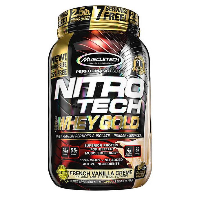 Muscletech Nitro-Tech 100% Whey Gold 1.13kg Cookies and Cream