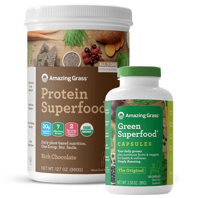Amazing Grass Green Super Food Bundle Capsules