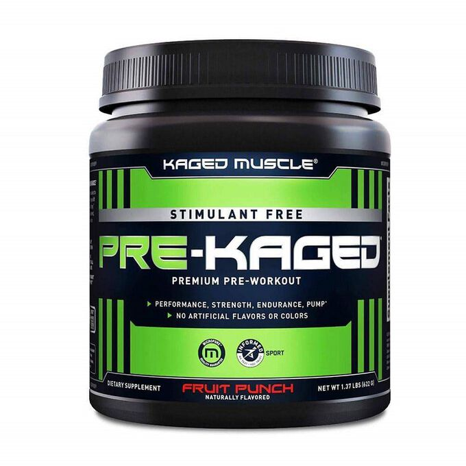 Kaged Muscle Pre-Kaged Stimulant Free 20 Servings Fruit Punch