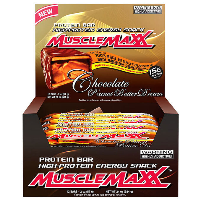 MuscleMaxx Bars 12 Bars Chocolate Peanut Butter Dream