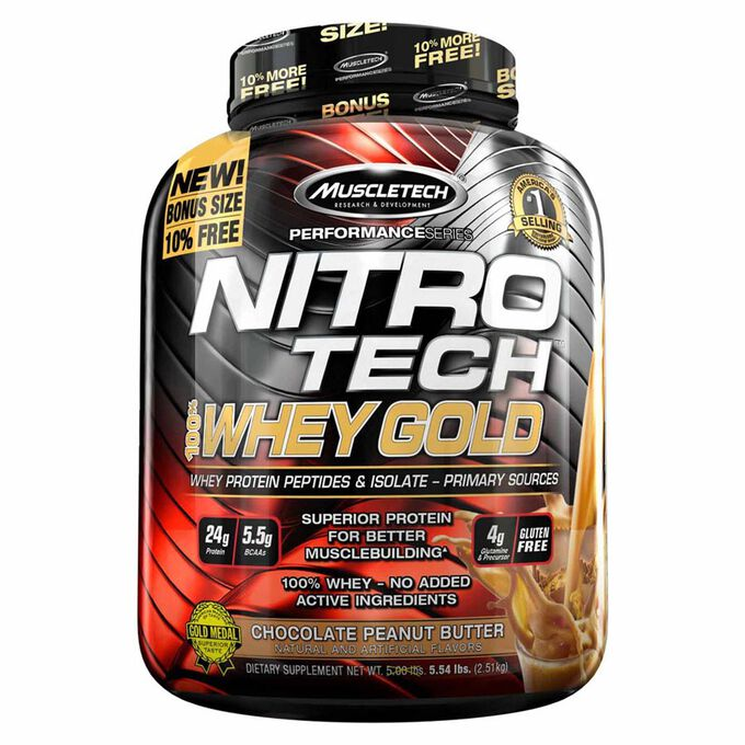 Muscletech Nitro-Tech 100% Whey Gold 2.51kg Cookies and Cream