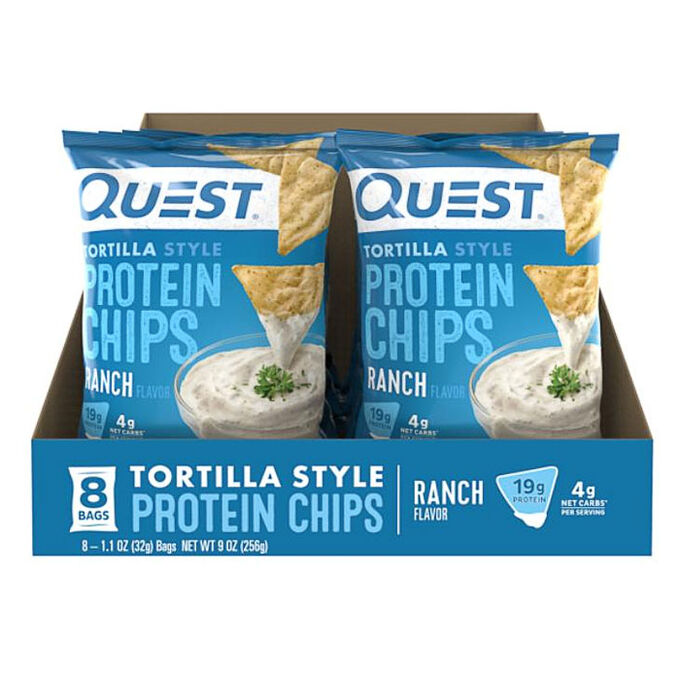 Quest Tortilla Chips 8 Pack Ranch
