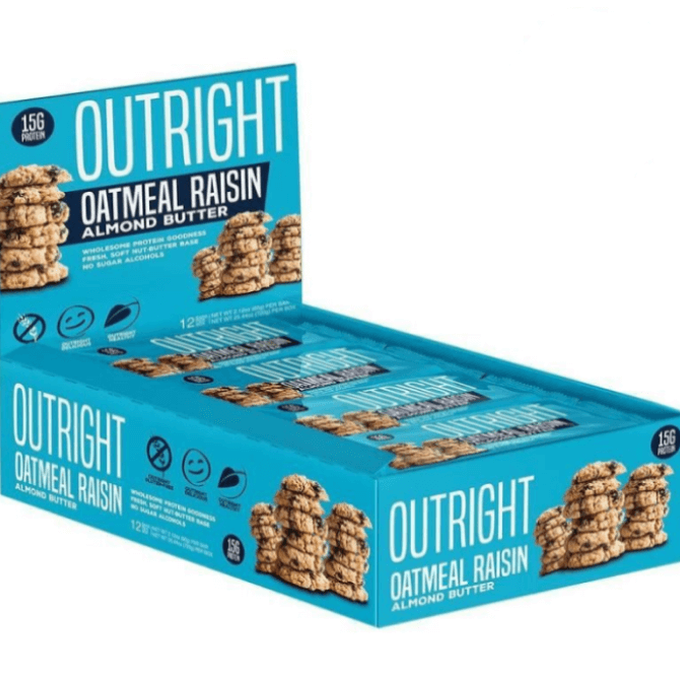 Outright Bar 12 Bars Oatmeal Raisin Almond Butter