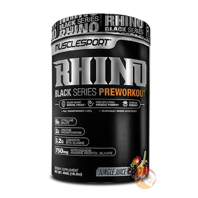 Muscle Sport Rhino Black 40 Servings Black Cherry Lemonade