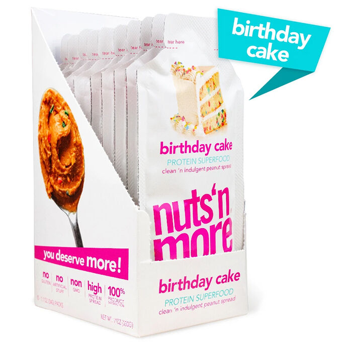 Nuts 'N More Nuts N More High Protein Peanut Butter 10 Pack Birthday Cake