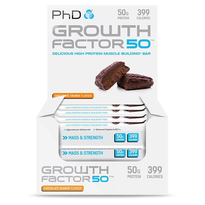 Growth Factor 50 12 Bars Chocolate Orange