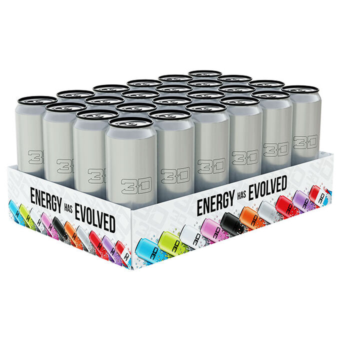 3D Energy 3D Energy Drink 24 Cans Silver