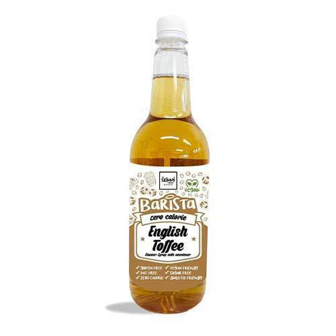 The Skinny Food Co Non-Dairy Sugar Free Barista Syrup 1 Litre English Toffee