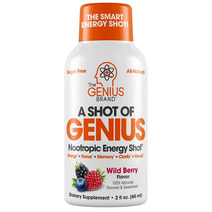 The Genius Brand A Shot Of Genius 6 Bottles Wild Berry