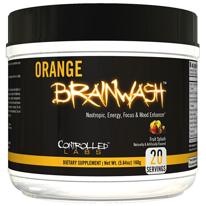Controlled Labs Orange Brainwash 20 Servings Sour Apple Rush