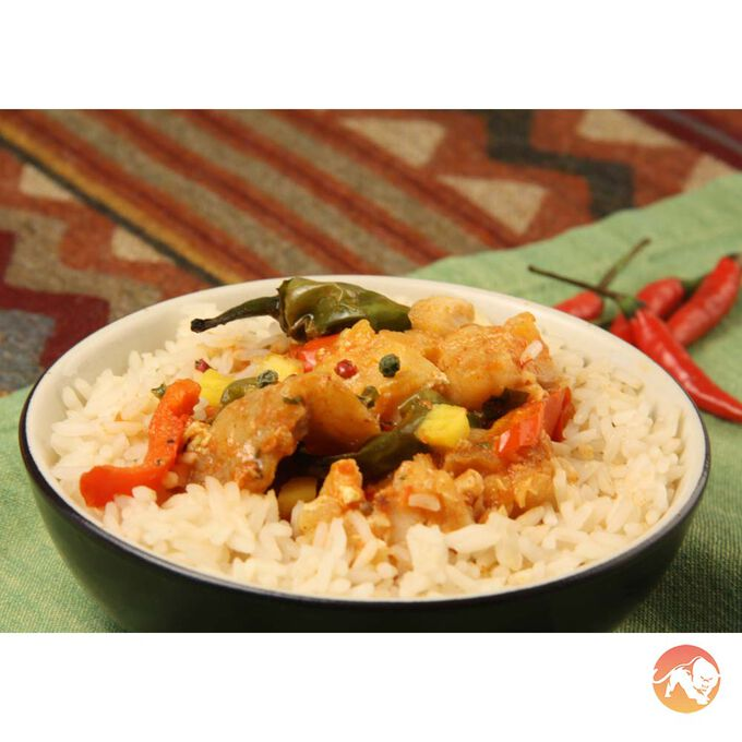 Caribbean red fish curry