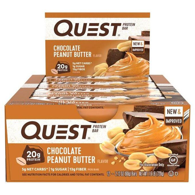 Quest Nutrition Quest Bars 12 Bars Chocolate Peanut Butter