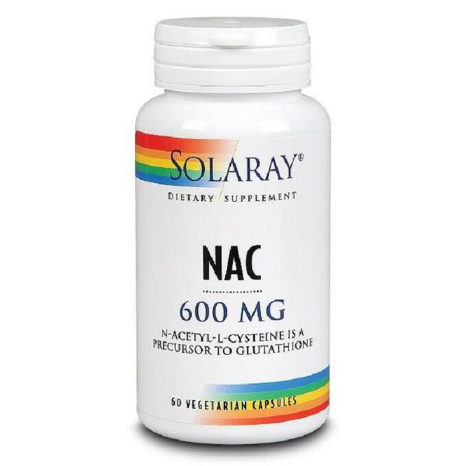 Solaray Nac Plus 600mg 30 Capsules
