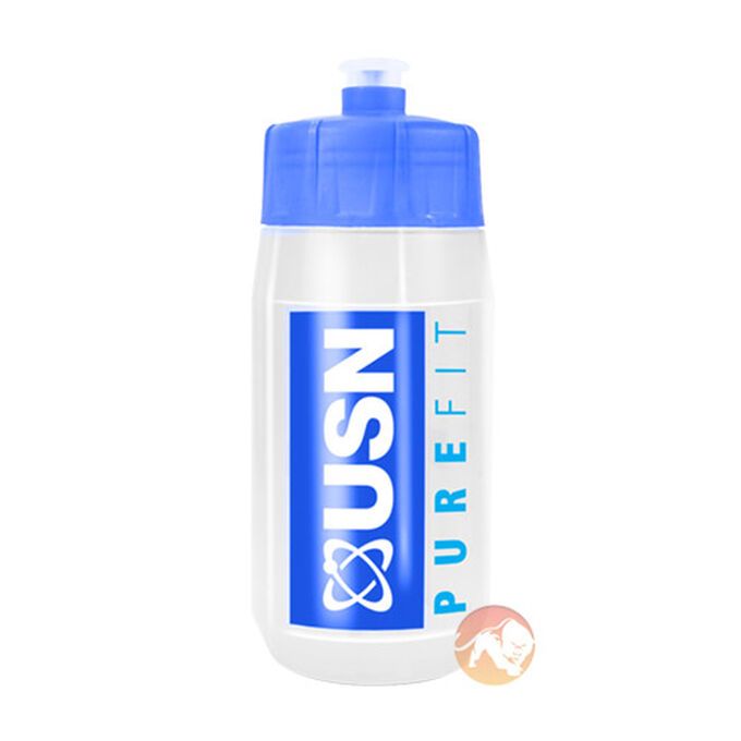 USN Pure Fit Water Bottle 600ml Blue