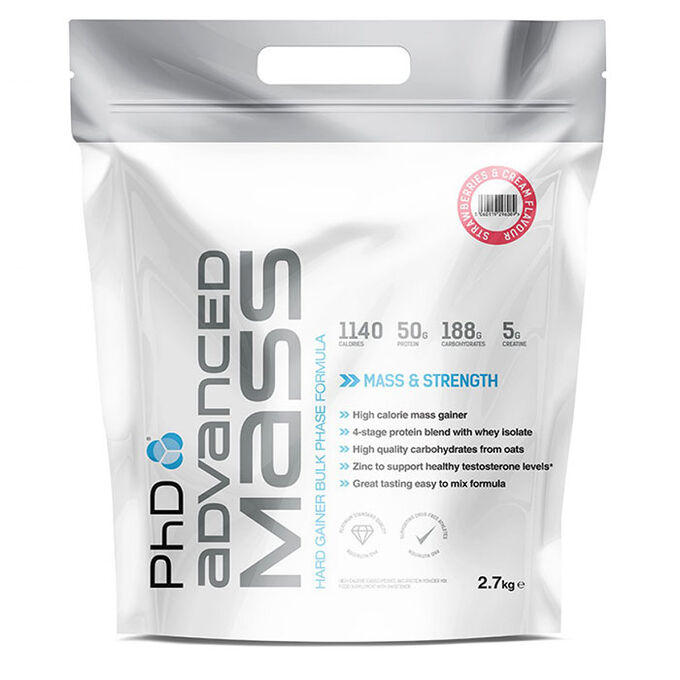 PHD Nutrition Advanced Mass 2.7kg - Strawberries and Cream