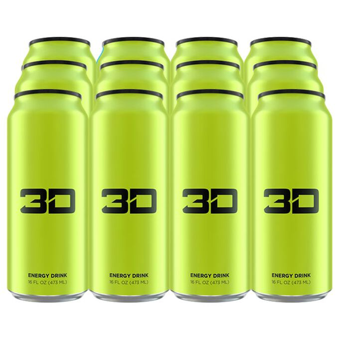 3D Energy Drink 12 Cans Green