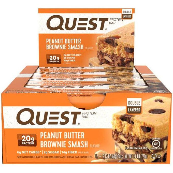 Quest Bars 12 Bars Peanut Butter Brownie Smash