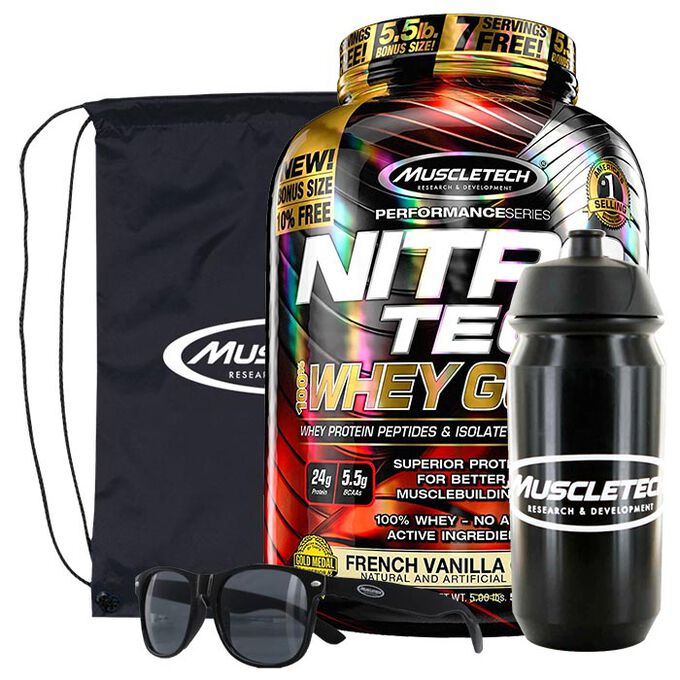Nitro-Tech 100% Whey Gold 2.27kg Double Rich Chocolate