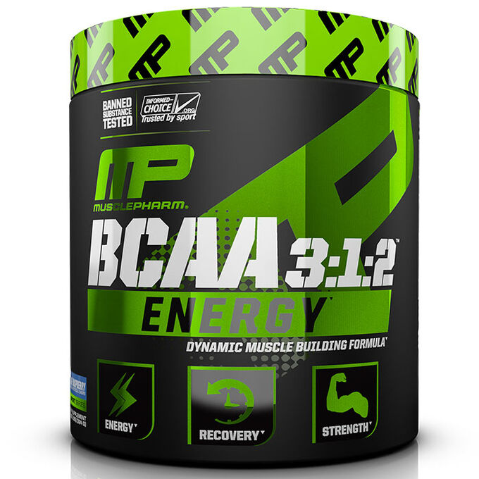 MusclePharm BCAA 3:1:2 Energy 30 Servings Blue Raspberry