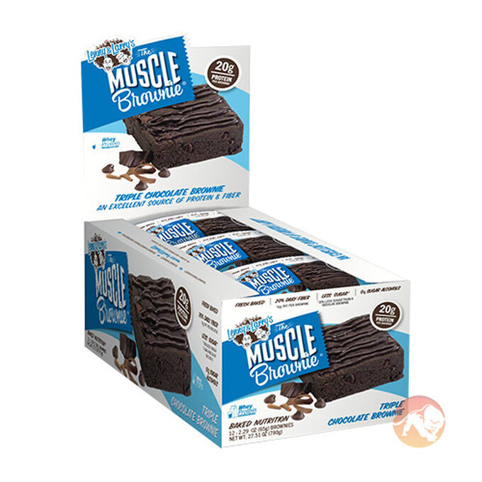 Lenny & Larry's Muscle Brownie 12 Bars Triple Chocolate
