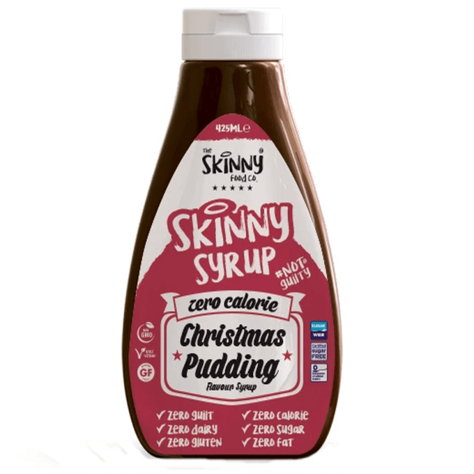 The Skinny Food Co Zero Calorie Christmas Pudding Syrup 425 ml