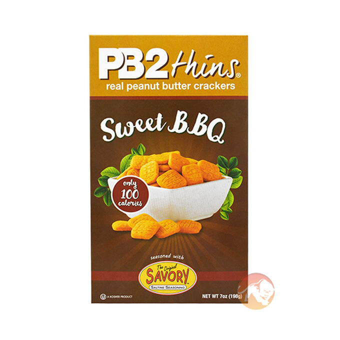 PB2 Foods PB Thins Peanut Butter Crackers 198g Sweet BBQ