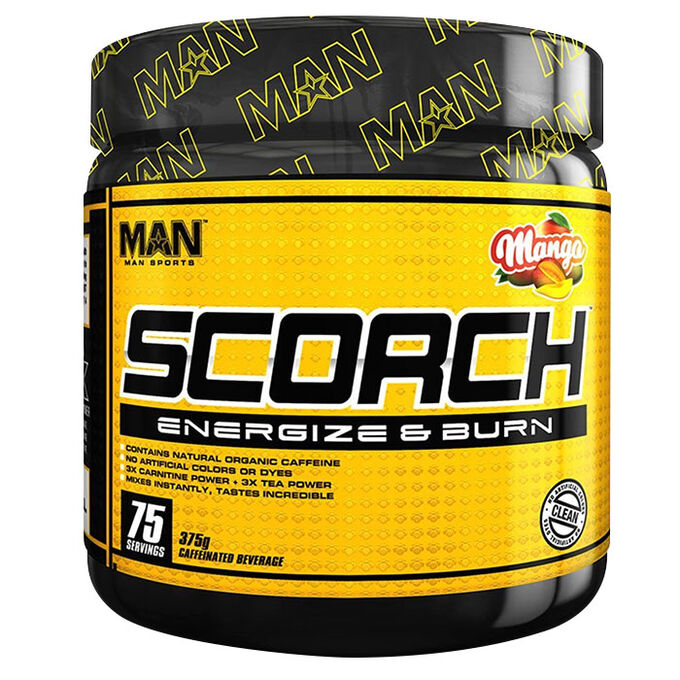 Man Sports Scorch Powder 75 Servings Grape Bubblegum