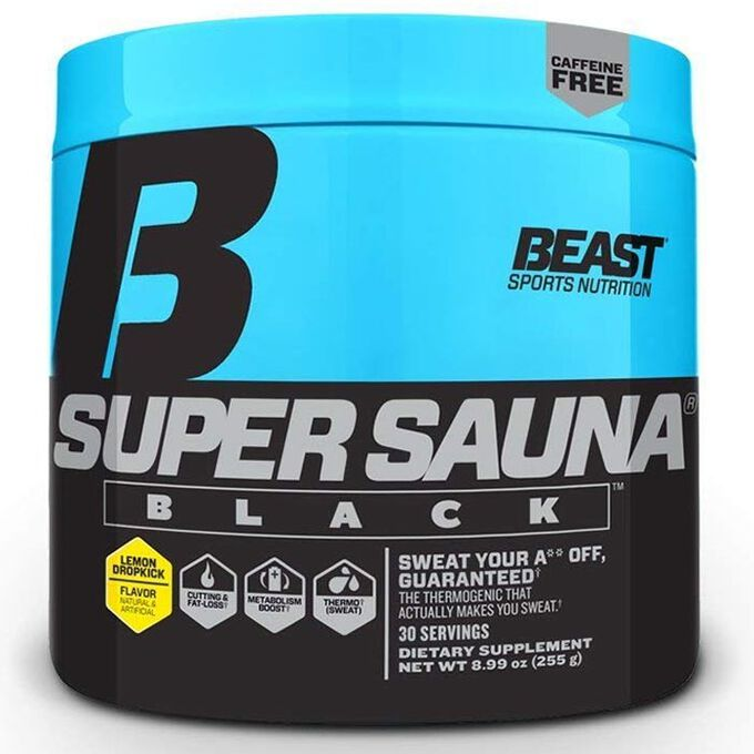 Beast Sports Nutrition Super Sauna Black 30 Servings Lemon Dropkick