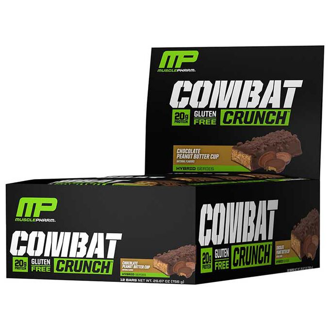 MusclePharm Combat Crunch Bars 12 Bars-Chocolate Peanut Butter Cup