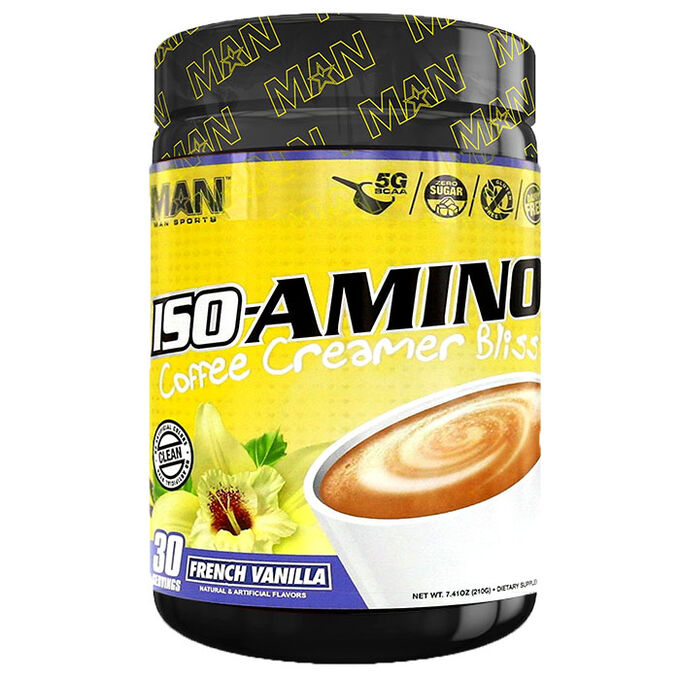 Man Sports Iso-Amino Coffee Creamer 30 Servings French Vanilla