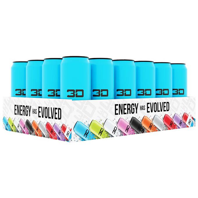 3D Energy 3D Energy Drink 24 Cans Blue