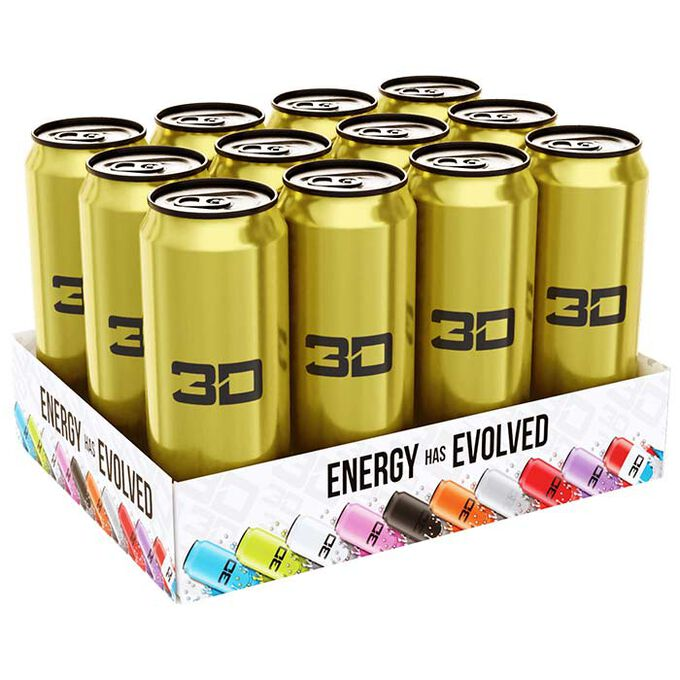 3D Energy 3D Energy Drink 12 Cans Gold