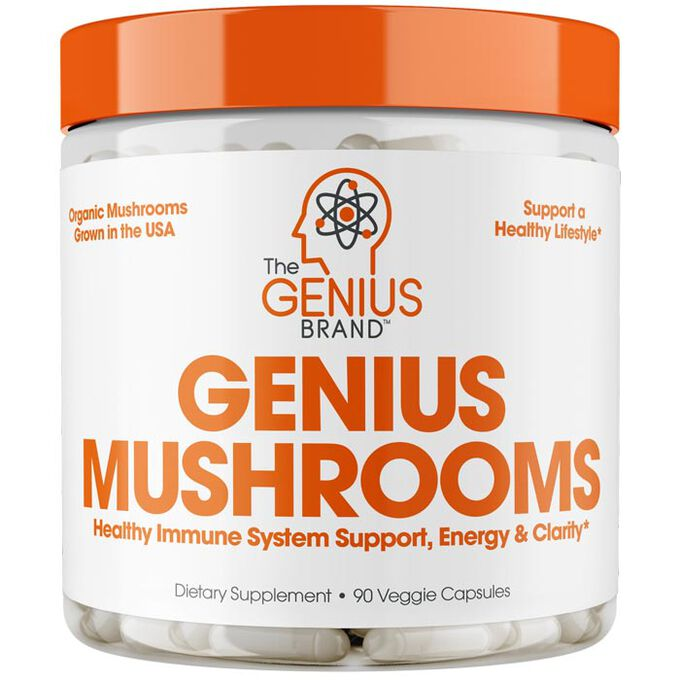 The Genius Brand Genius Mushrooms 90 Caps