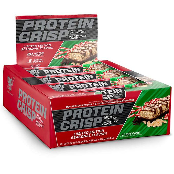 BSN Protein Crisp 12 Bars Candy Cane
