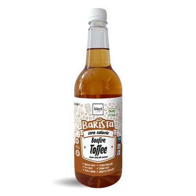 The Skinny Food Co Non-Dairy Sugar Free Barista Syrup 1 Litre Bonfire Toffee