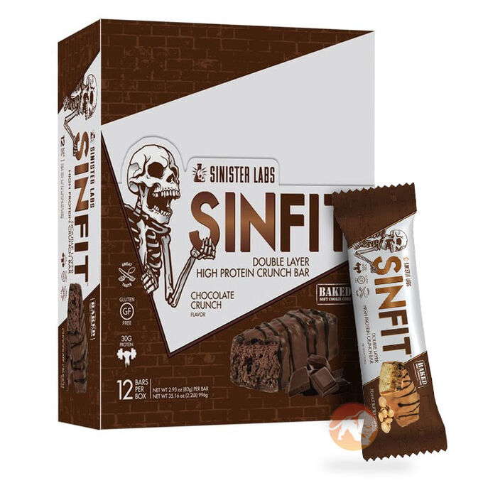 SinFit Bars 12 Bars Chocolate Crunch