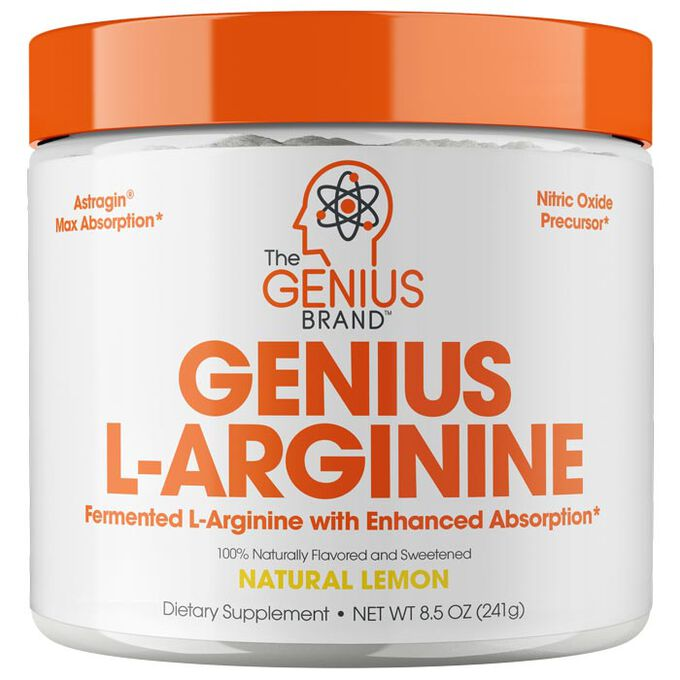 Genius L-Arginine 30 Servings Natural Lemon