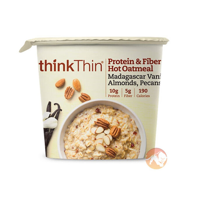 thinkThin Protein & Fibre Hot Oatmeal 6 Pack Farmer's Market Berry Crumble