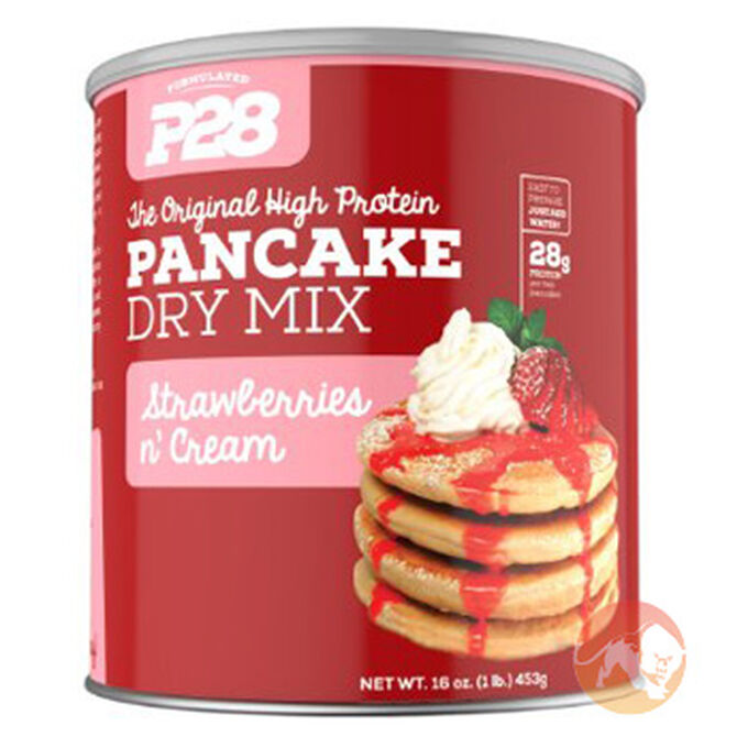 P28 P28 High Protein Pancake Mix Strawberries and Cream 453g