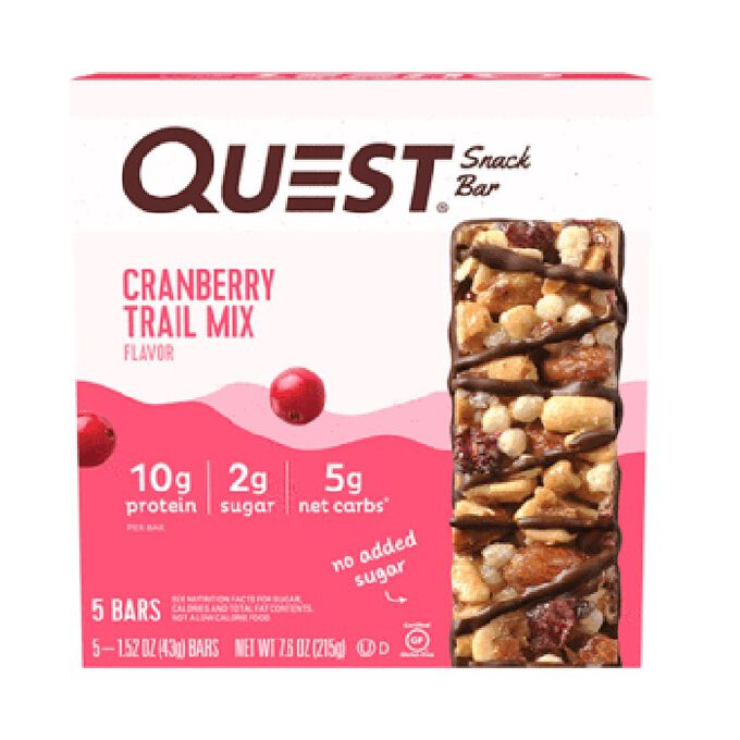 Quest Nutrition Quest Snack Bar 12 Bars Cranberry Trail Mix