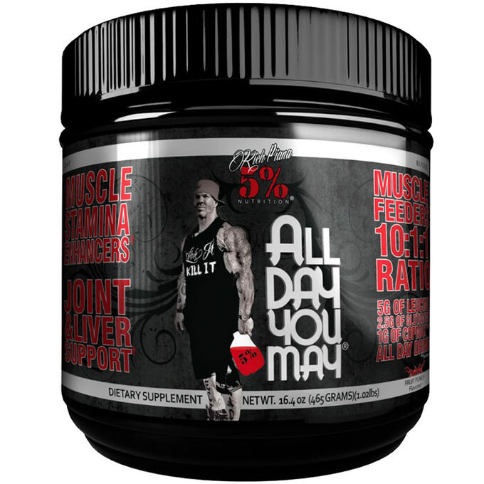 5% Rich Piana 5% Nutrition Alldayyoumay - Fruit Punch - 30 Servings - 10:1:1 BCAA ratio